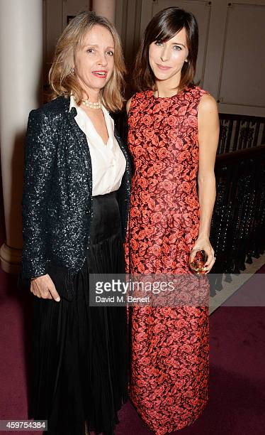 Sabrina Guinness and Sophie Hunter attend a champagne reception at the 60th London Evening Standard Theatre Awards at the London Palladium on...
