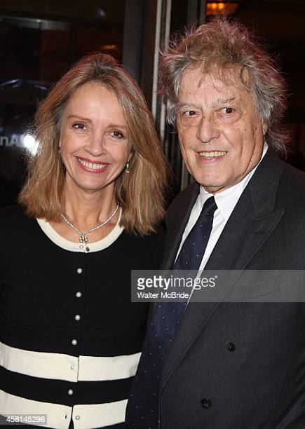 Sabrina Guinness and Tom Stoppard attend the Roundabout Theatre Company's Broadway Opening Night performance of 'The Real Thing' at the American...