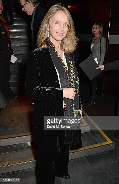 Sabrina Guinness attends an after party celebrating the press night performance of Fatal Attraction at Mint Leaf Restaurant on March 25 2014 in...