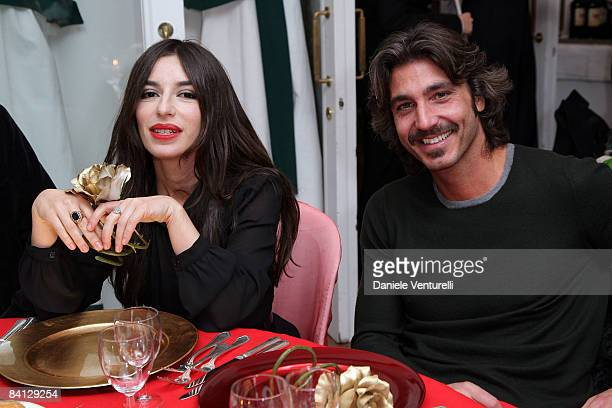 Sabrina Impacciatore and Daniele Liotti attend the first day of the 13th Annual Capri Hollywood International Film Festival on December 27 2008 in...