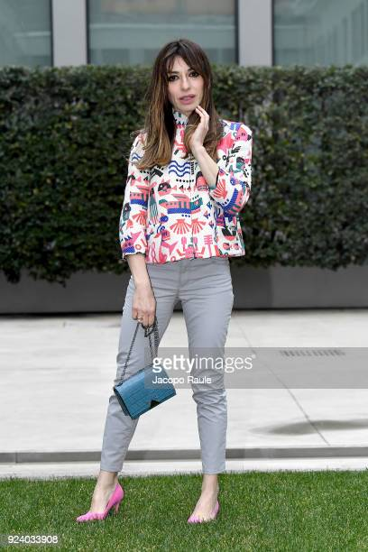 Sabrina Impacciatore attends the Emporio Armani show during Milan Fashion Week Fall/Winter 2018/19 on February 25 2018 in Milan Italy