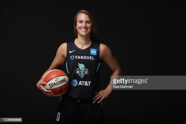 Sabrina Ionescu of the New York Liberty poses for a portrait during Media Day on July 13, 2020 at IMG Academy in Bradenton, Florida. NOTE TO USER:...