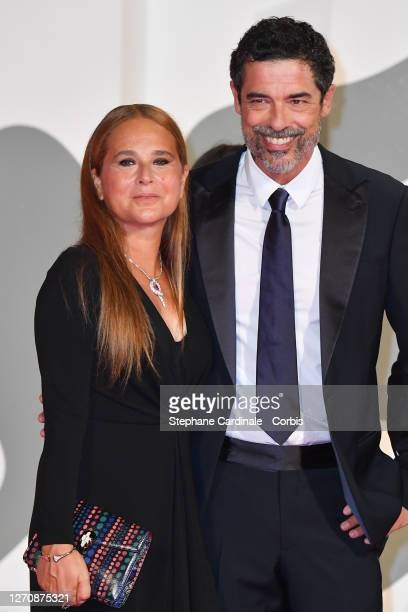 "Sabrina Knaflitz and Alessandro Gassmann walk the red carpet ahead of the movie ""Pieces of a woman"" at the 77th Venice Film Festival on September 05,..."