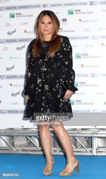 Sabrina Knaflitz attends a photocall ahead of the Nastri D'Argento nominees presentation at Maxxi Museum on May 29 2018 in Rome Italy