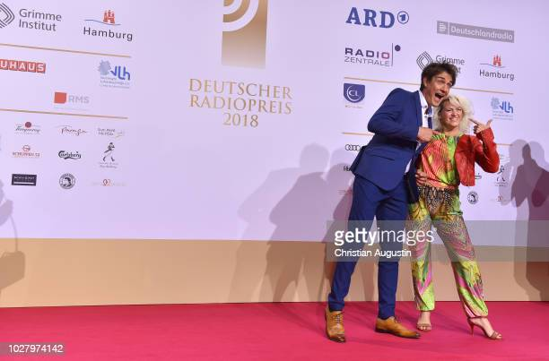 Sabrina Lange and Matze Knop attend the Deutscher Radiopreis at Schuppen 52 on September 6 2018 in Hamburg Germany
