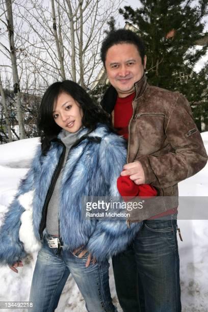 Sabrina Li and Ang Yuan during 2006 Sundance Film Festival Ang Yuan and Sabrina Li Outdoor Portraits in Park City Utah United States