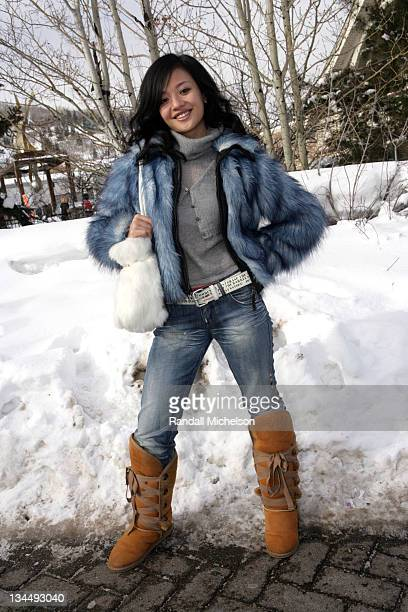 Sabrina Li during 2006 Sundance Film Festival Ang Yuan and Sabrina Li Outdoor Portraits in Park City Utah United States