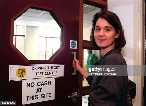 Sabrina Macchi of Fulham London looks relaxed after taking her driving theory test at the Wyvil Road Driving Standard Agency centre in London this...