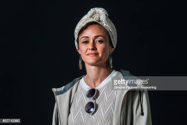 Sabrina Mahfouz attends a photocall during the Edinburgh International Book Festival on August 16 2017 in Edinburgh Scotland