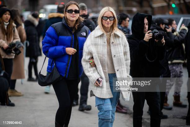 Sabrina Meijer and Charlotte Groeneveld is seen outside Boss during New York Fashion Week Autumn Winter 2019 on February 13 2019 in New York City
