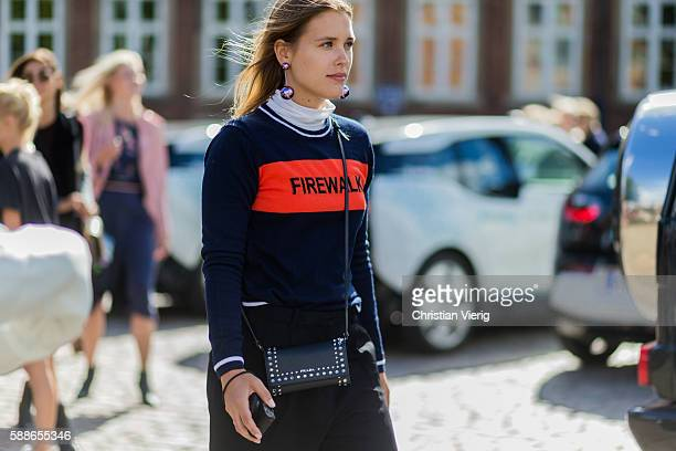 Sabrina Meijer outside House of Dagmar during the second day of the Copenhagen Fashion Week Spring/Summer 2017 on August 11 2016 in Copenhagen Denmark