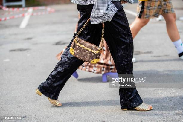 Sabrina Meijer seen wearing Louis Vuitton bag outside By Malene Birger during Copenhagen Fashion Week Spring/Summer 2020 on August 08 2019 in...