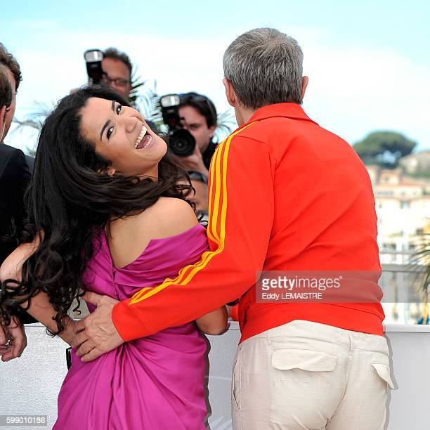 Sabrina Ouazani and Lambert Wilson at the photo call for Of God and Men during the 63rd Cannes International Film Festival