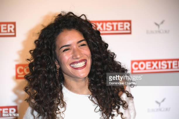 Sabrina Ouazani attends the 'Coexister' Paris Premiere at Le Grand Rex on September 25 2017 in Paris France