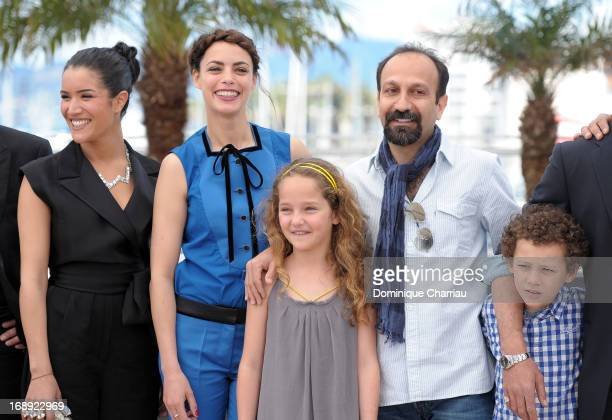 Sabrina Ouazani Berenice Bejo Jeanne Jestin director Asghar Farhadi and Elyes Aguis attend the photocall for 'Le Passe' during the 66th Annual Cannes...