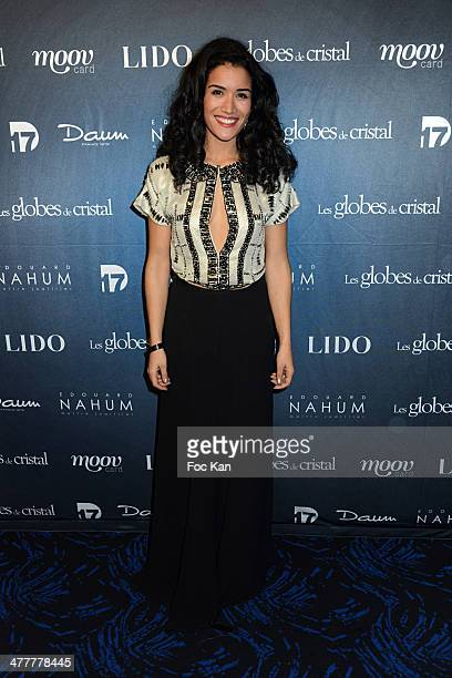 Sabrina Ouazani from 'Unissons nos voix' attends Les Globes de Cristal 2014 Awards Ceremony at Le Lido on March 10 2014 in Paris France