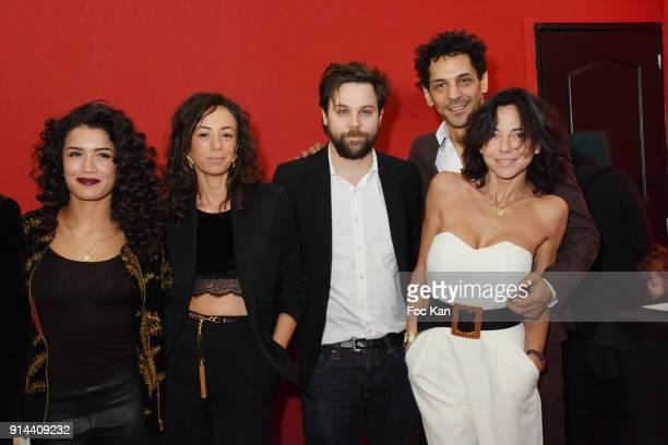 Sabrina Ouazani Janane Boudili Arthur Jugnot Tomer Sisley and Sandra Sisley de Matteis attend 39th 'Festival Mondial Du Cirque de Demain' Awards...