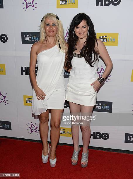 Sabrina Parisi and Vikki Lizzi attend the Make A Film Foundation's ComedyCon 2013 Fundraiser at The Comedy Store on August 30 2013 in West Hollywood...