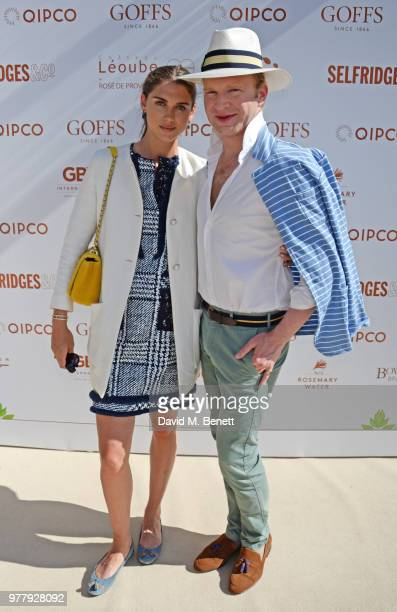 Sabrina Percy and Henry Conway attend the 2018 Goffs London Sale in association with QIPCO as it returns for it's fifth year to the grounds of...