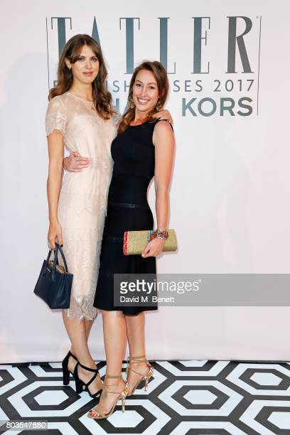 Lady Sabrina Percy and Lady Tatiana Mountbatten attend Tatler's English Roses 2017 in association with Michael Kors at the Saatchi Gallery on June 29...