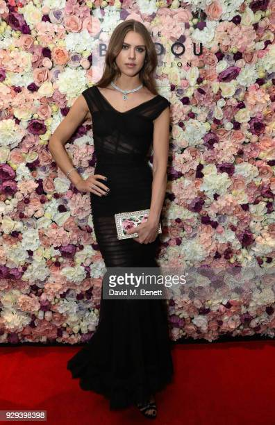 Sabrina Percy attends The BARDOU Foundation's International Women's Day IWD private dinner at The Hospital Club on March 8 2018 in London England