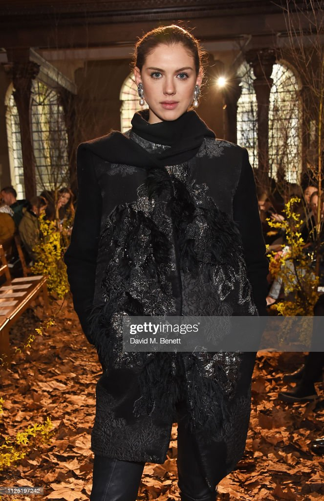 GBR: Malene Oddershede Bach - Front Row - LFW February 2019