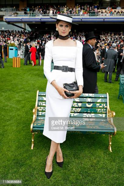 Sabrina Percy on day 2 of Royal Ascot at Ascot Racecourse on June 19, 2019 in Ascot, England. They were commissioned by Ascot Racecourse to paint...