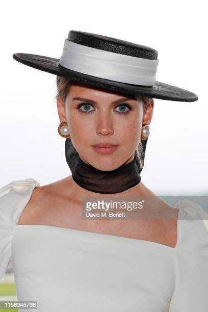 Sabrina Percy, wearing hat by Suzannah and Emily London on day 2 of Royal Ascot at Ascot Racecourse on June 19, 2019 in Ascot, England.