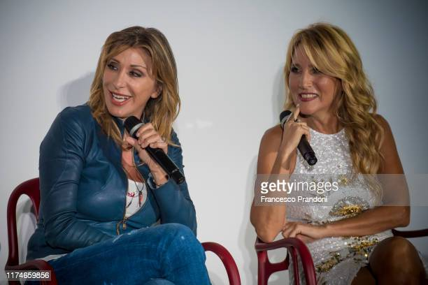 Sabrina Salerno and Jo Squillo attends Il Tempo Delle Donne Festival in Milan at Triennale Design Museum on September 14 2019 in Milan Italy