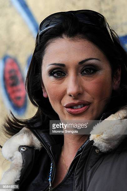 Sabrina Salerno attends Scalo 76 TV Show on January 10 2009 in Milan Italy