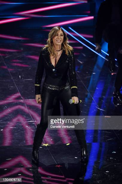 Sabrina Salerno attends the 70° Festival di Sanremo at Teatro Ariston on February 08 2020 in Sanremo Italy