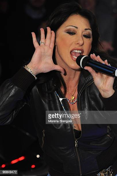 Sabrina Salerno during Scalo 76 TV Show on January 10 2009 in Milan Italy