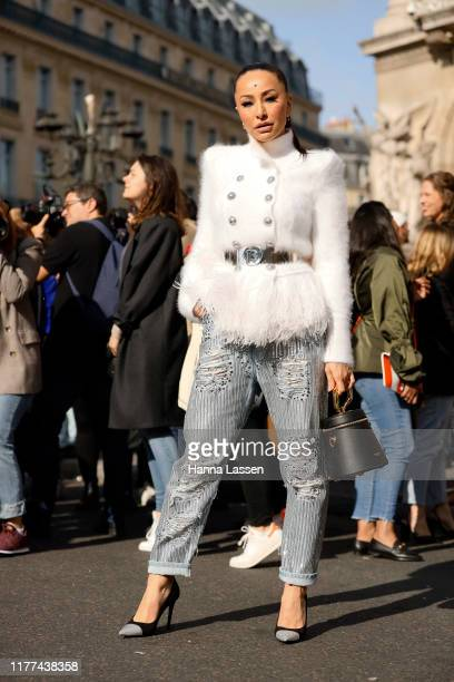 Sabrina Sato wearing Balmain outside Balmain during Paris Fashion Week Womenswear Spring Summer 2020 on September 27 2019 in Paris France