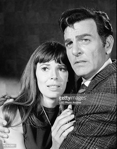 MANNIX Sabrina Scharf as Celia and Mike Connors as Joe Mannix in Penny For the Peepshow Image dated July 28 1969