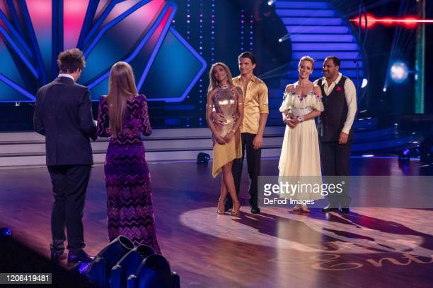 Sabrina Setlur Nikita Kuzmin Isabel Edvardsson and Ailton looks on during the 2nd show of the 13th season of the television competition Let's Dance...