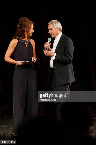 Sabrina Staubitz and John Neumeier attend the 'Das Herz im Zentrum' Charity Gala on June 9, 2016 in Hamburg, Germany.