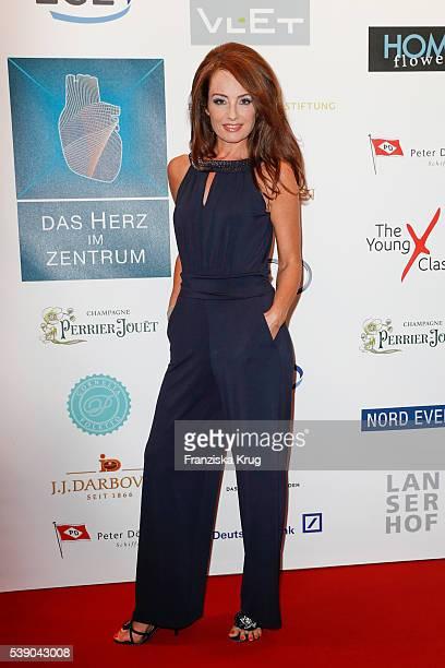 Sabrina Staubitz attends the 'Das Herz im Zentrum' Charity Gala on June 9 2016 in Hamburg Germany