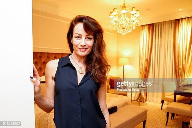 Sabrina Staubitz attends the Soiree Hotel Vier Jahreszeiten on March 01 2016 in Hamburg Germany