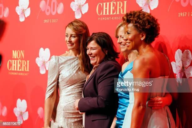 Sabrina Staubitz Vera IntVeen Nicole Noevers and Arabella Kiesbauer attend the Mon Cheri Barbara Tag 2017 at Postpalast on November 30 2017 in Munich...