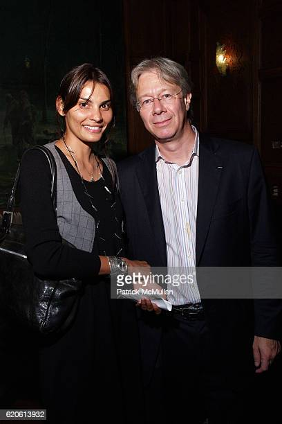 Sabrina Vanderputt and Julian Zugazagoitia attend Presentation of the Clark Prize to PETER SCHJELDAHL at The Plaza Hotel on September 10 2008 in New...