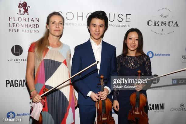 Sabrina Vivian Hopcker Kevin Zhu and Elly Suh attend PAGANINI HONORS PAGANINI A Tribute To Niccolo Paganini By Maria Elena Paganini on October 28...
