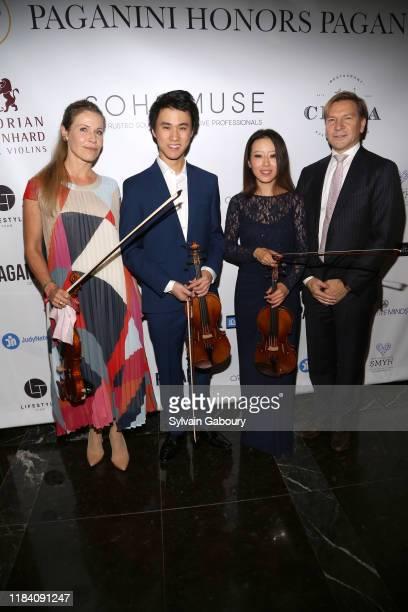 Sabrina Vivian Hopcker Kevin Zhu Elly Suh and Florian Leonhard attend PAGANINI HONORS PAGANINI A Tribute To Niccolo Paganini By Maria Elena Paganini...
