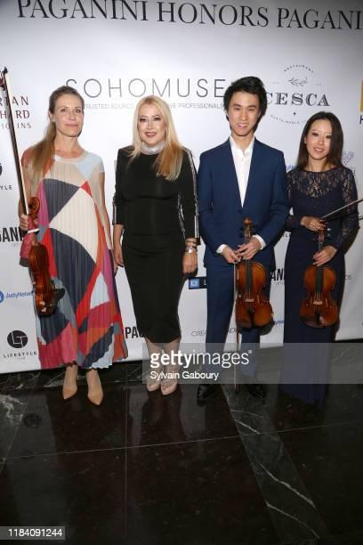 Sabrina Vivian Hopcker Maria Elena Paganini Kevin Zhu and Elly Suh attend PAGANINI HONORS PAGANINI A Tribute To Niccolo Paganini By Maria Elena...