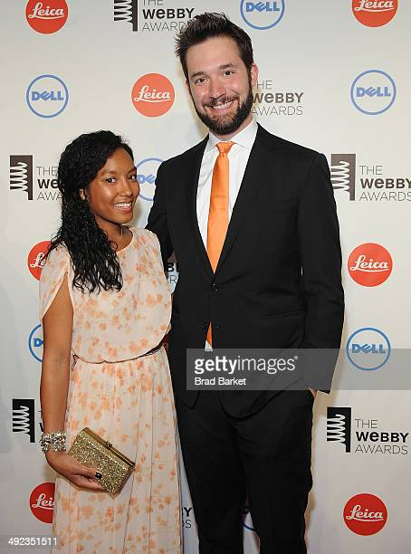 Sabriya Stukes and cofounder of Reddit Alexis Ohanian attend 18th Annual Webby Awards on May 19 2014 in New York United States