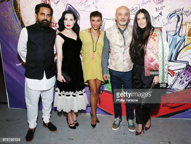 Sabyasachi Dita Von Teese Carly Hughes Christian Louboutin and Demi Moore attend Christian Louboutin and Sabyasachi Unveil Capsule Collection at Just...