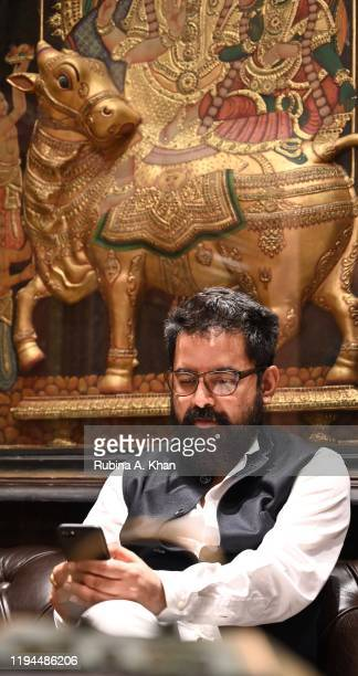 Sabyasachi Indian couturier and jewelry designer at Sabyasachi Jewelry his first flagship jewelry store in the country on December 17 2019 in Mumbai...
