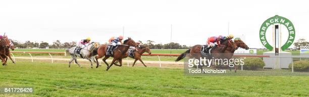 Sacambaya ridden by Liam Riordan wins the Save the Date BM64 Handicap at Warracknabeal Racecourse on September 02 2017 in Warracknabeal Australia