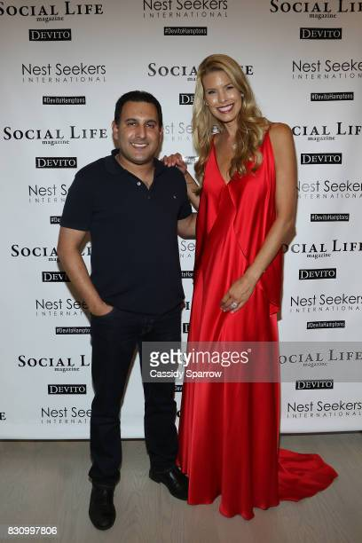 Sach Chopra and Beth Stern attend the Social Life Magazine Nest Seekers August Issue Party on August 12 2017 in Southampton New York