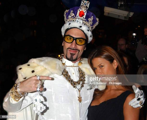 Sacha Baron Cohen aka Ali G and actress Rhona Mitra arriving at the Empire Cinema in London's Leicester Square for the premiere of Ali G InDaHouse