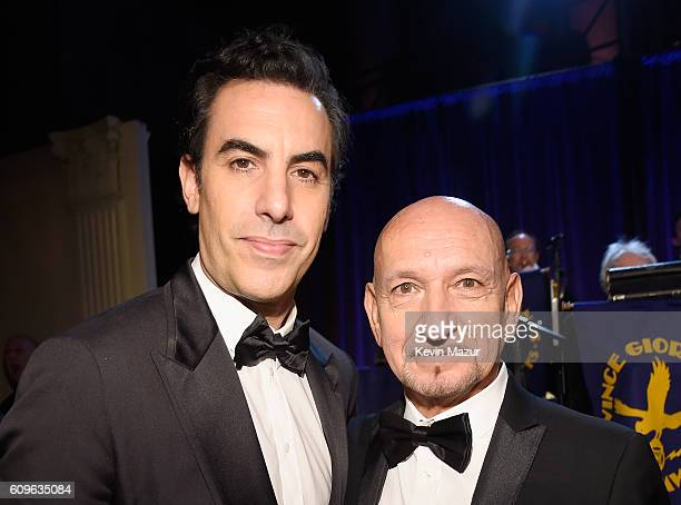 Sacha Baron Cohen and Ben Kingsley attend as the Friars Club Honors Martin Scorsese With Entertainment Icon Award at Cipriani Wall Street on...